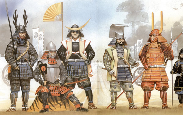 Tokugawa Ieyasu and his samurai army