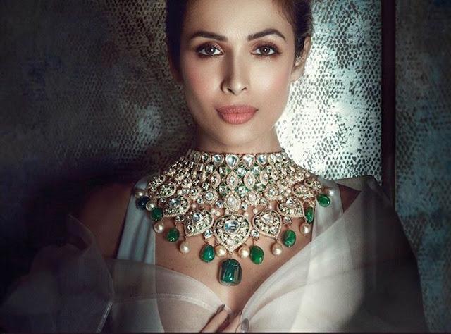 Malaika Arora Heavy Kundan Jewelry