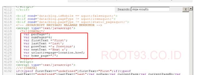 Javascript Navigasi Halaman Bernomor