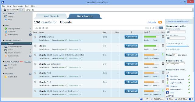 تحميل برنامج تورنت Download Vuze Bittorrent Client