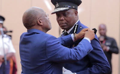 Tanzania President John Pombe Magufuli sworn- in Simon NyakoroSirro as the country's new Inspector General of Police (IGP).