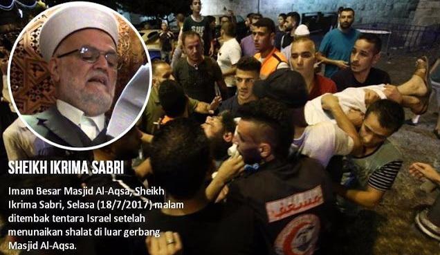 Innalillahi, Imam Besar Masjid Al-Aqsa Ditembak Tentara Israel Setelah Sholat