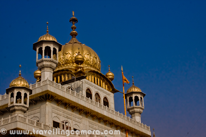 During the eighteenth century, the Harmandir Sahib was the site of frequent fighting between the Sikhs on one side and either Mughal or Afghan forces on the other side and the gurdwara occasionally suffered damage. In the early nineteenth century, Maharaja Ranjit Singh secured the Punjab region from outside attack and covered the upper floors of the gurdwara with gold, which gives it its distinctive appearance and English name of 'Golden Temple'.