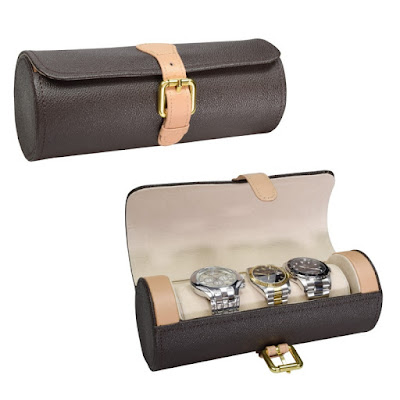 Shop for the Leatherette Watch Storage Case at Nile Corp