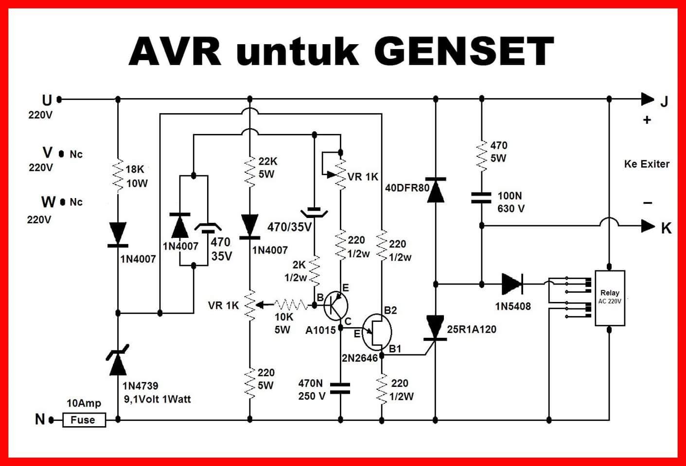 Audio Rakitan Sound Jawa  Skema Avr Generator