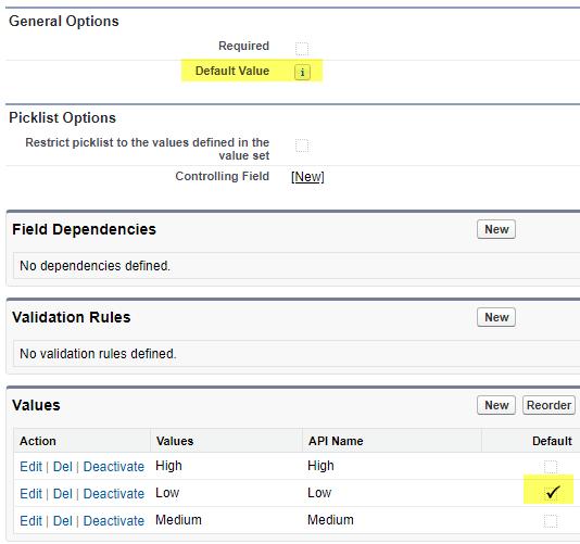 SimplySfdc com: Salesforce: Picklist Default Value