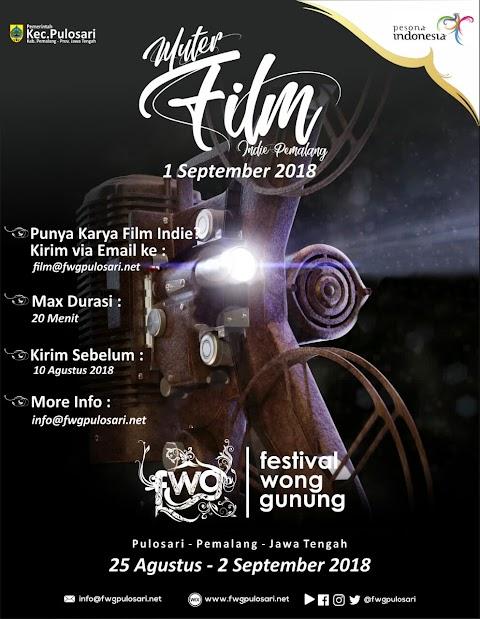 Festival Wong Gunnung -  Pemutaran Film Indie Pemalang