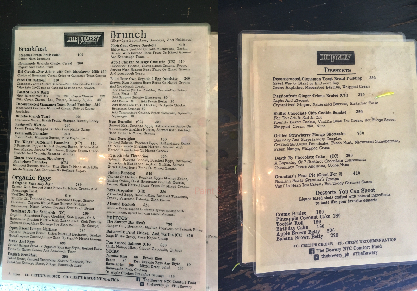the bowery nyc restaurant menu in taguig