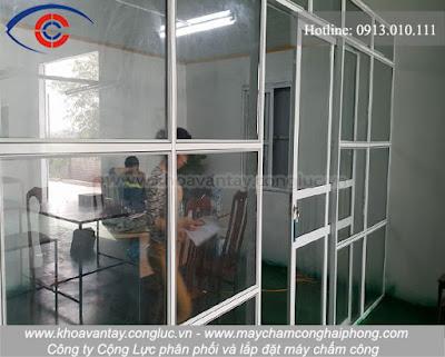Lắp đặt máy chấm công cho nhà xưởng tại Kim Tân, Kim Thành, Hải Dương.