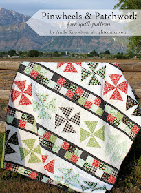Pinwheels and Patchwork free quilt pattern from A Bright Corner