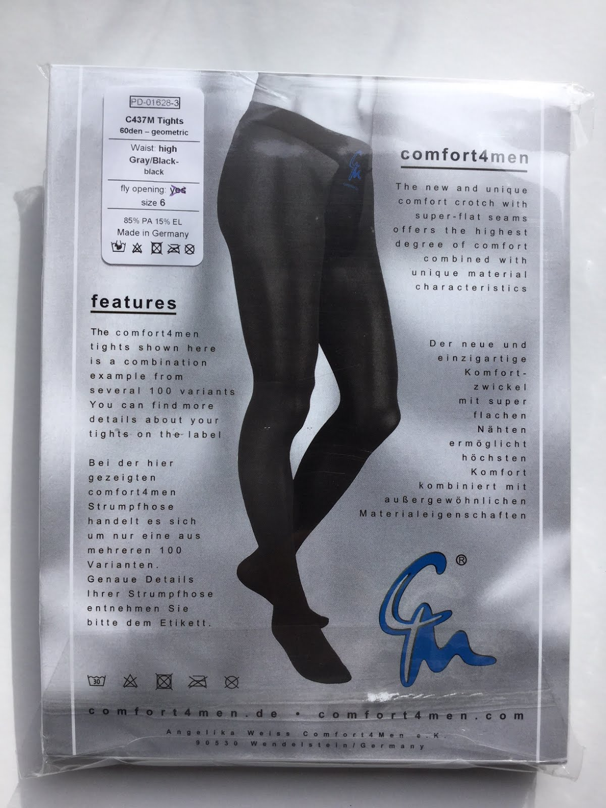 03ebcf4f7b7 Material and features. The C437M Comfort4Men 60 denier