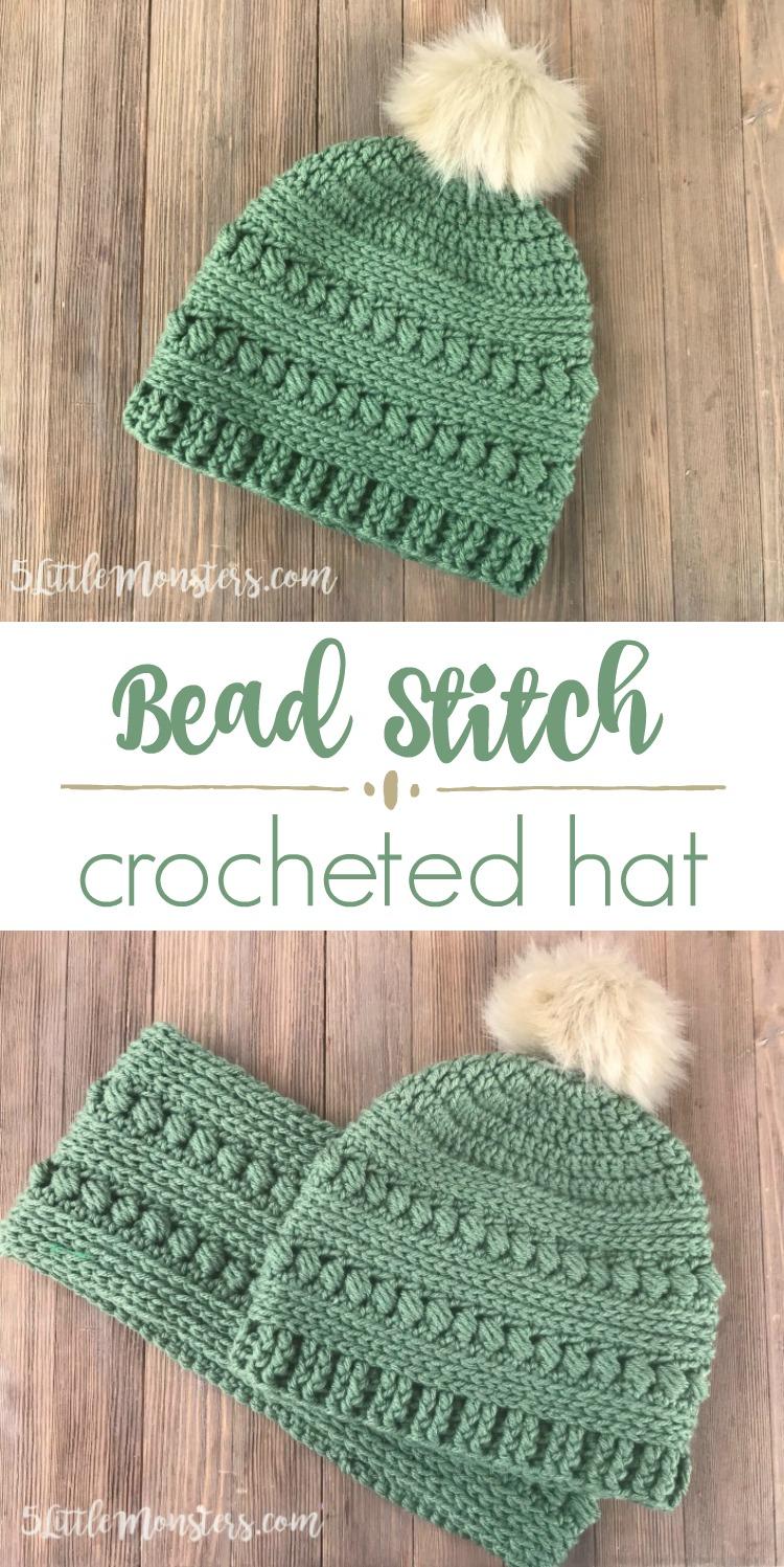 5 Little Monsters  Bead Stitch Crochet Hat cd08c6b6b7d9