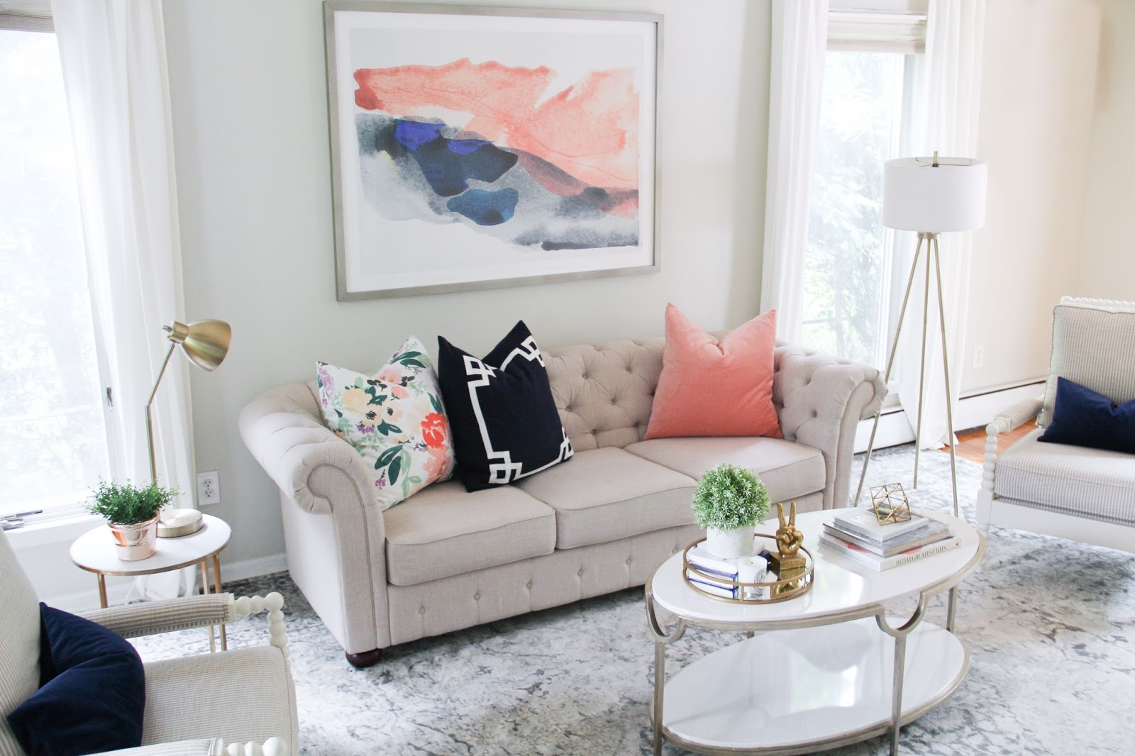 Good A Light And Airy Living Room Reveal Part 5
