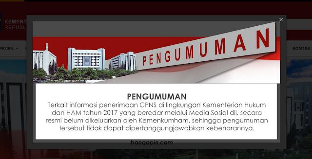 Informasi Penerimaan CPNS Kementerian Hukum dan HAM