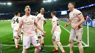 Man Utd celebrates as gave PSG the unexpected
