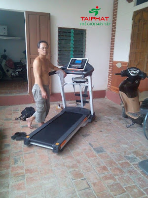 Chú Việt (Hà Tĩnh) đã mua và dùng máy chạy bộ DL-013 tại Tài Phát sport.