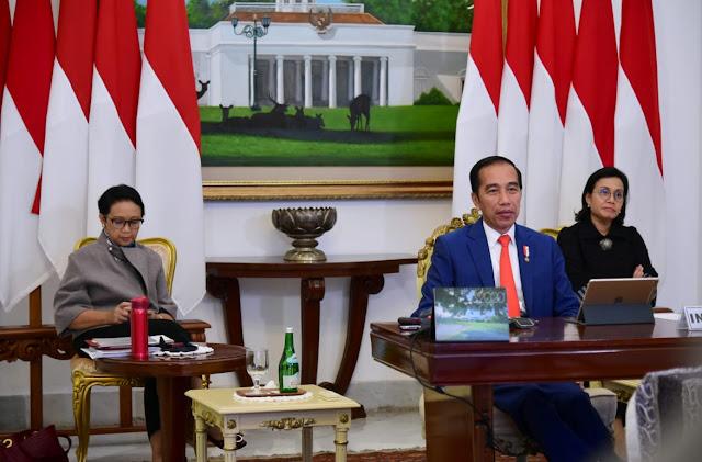 Jokowi Ikuti Konferensi Tingkat Tinggi Luar Biasa G20 Bahas COVID-19 dari Istana Bogor