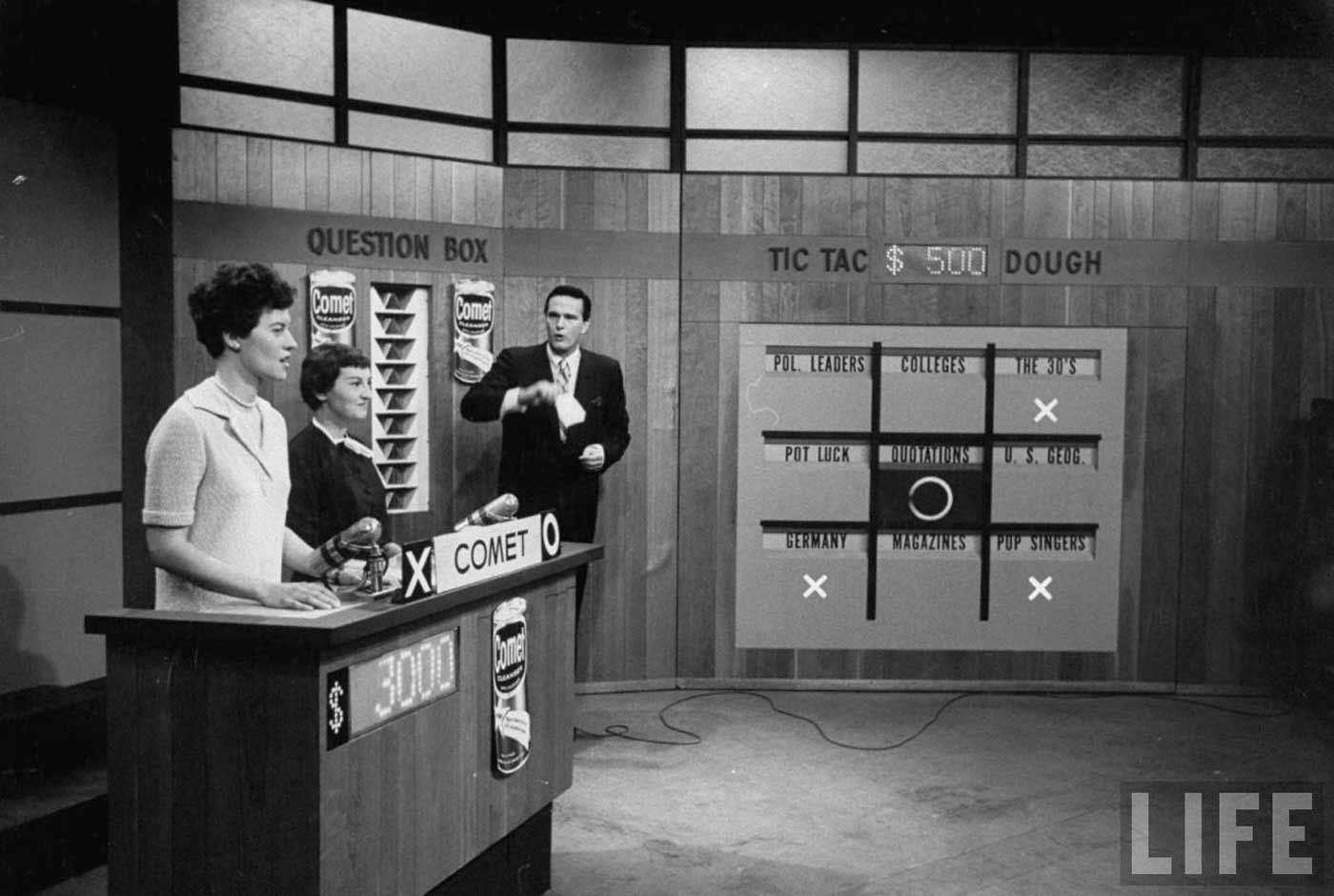 Everyday pictures of the u s tv game shows from the late 1950s