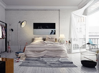 dormitorio decorado con blanco