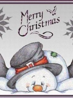 besplatne Božićne slike za mobitel 240x320 free download čestitke blagdani Merry Christmas snjegović