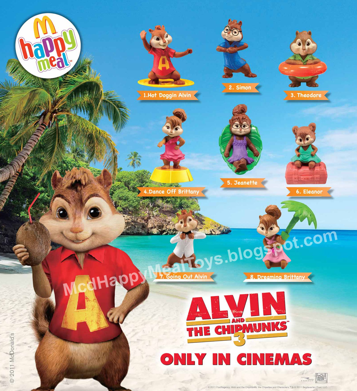 Alvin And The Chipmunks 3 Images alvin and the chipmunks 3 toys – happy meal toys
