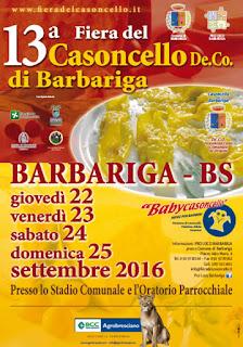 Fiera del Casoncello Barbariga (BS)  dal 22 al 25 settembre  2016