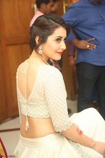 Raashi Khanan looks stunning in Crop Top Deep neck Choli Ghagra Transparent Chunni WOW ~  Exclusive Celebrities Galleries 014