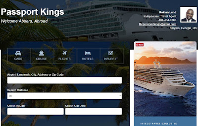 Book with Roklan, Passport Kings and Inteletravel