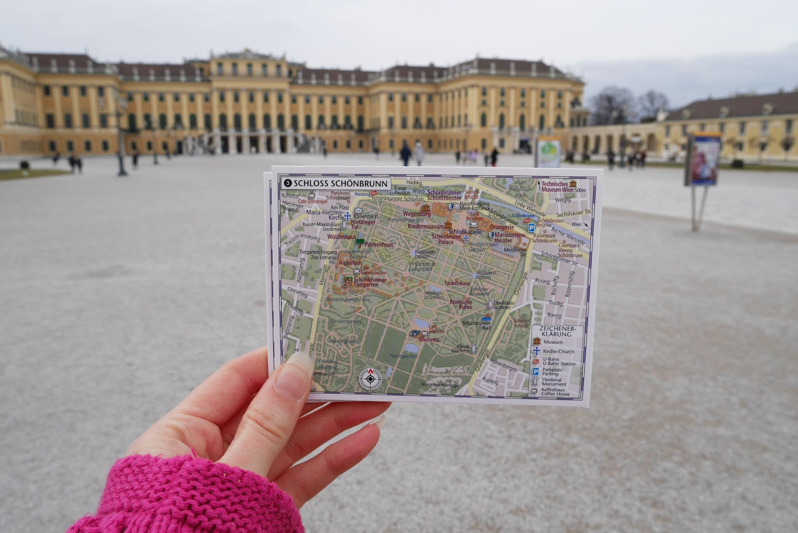 Exploring Vienna, Austria by map