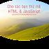 Thử mã HTML & JavaScript