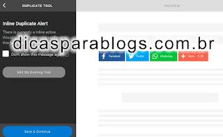 editar botões compartilhar postagens