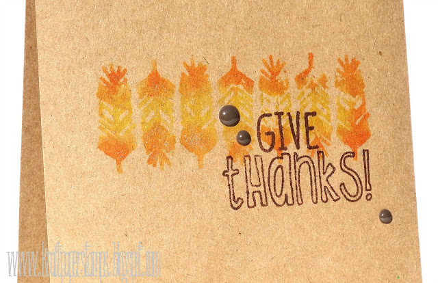 Kraft Paper Stamps - Give Thanks