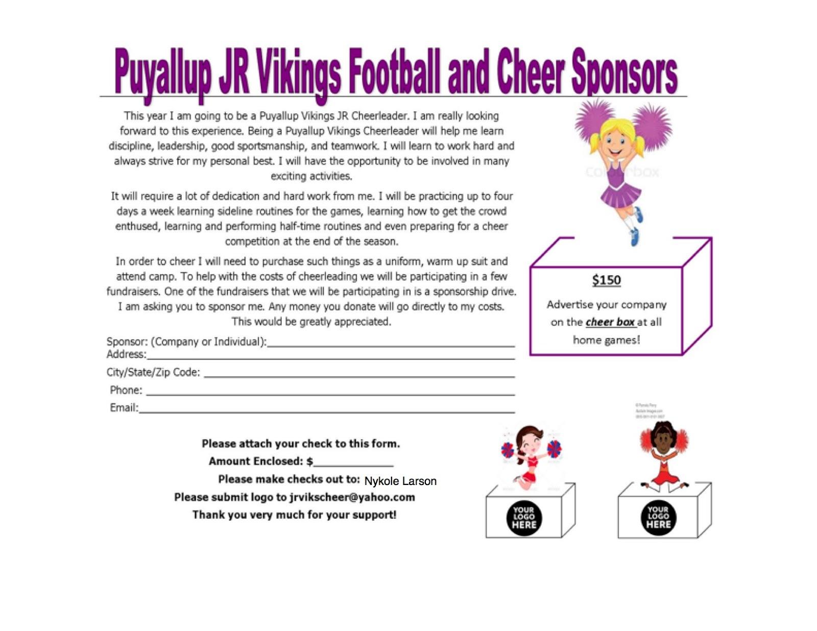 Cheer Worksheet