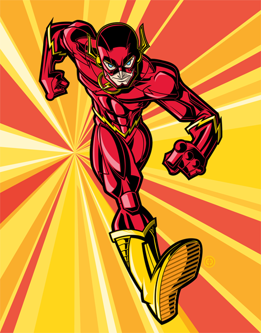 "The Flash ""Barry"" Print by Tracy Tubera"