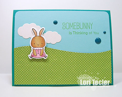 Somebunny Is Thinking of You card-designed by Lori Tecler/Inking Aloud-stamps from My Favorite Things