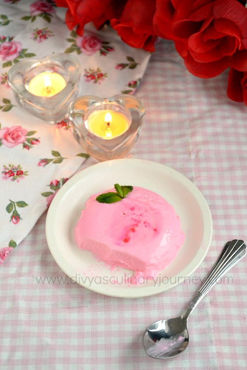 Panna Cotta with rose flavor