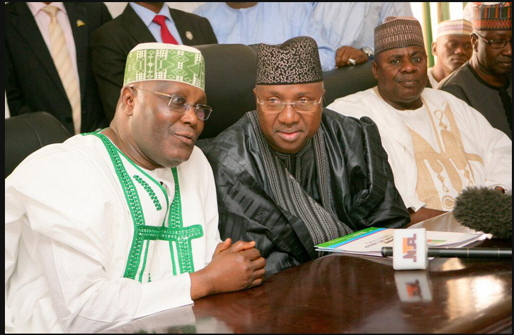 Gov Bindow Jibrilla of Adamawa with Atiku Abubakar [left]