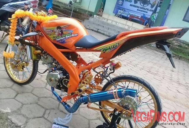 New Vixion Modif Motor Kontes Warna Orange