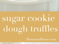 Sugar Cookie Dough Truffles