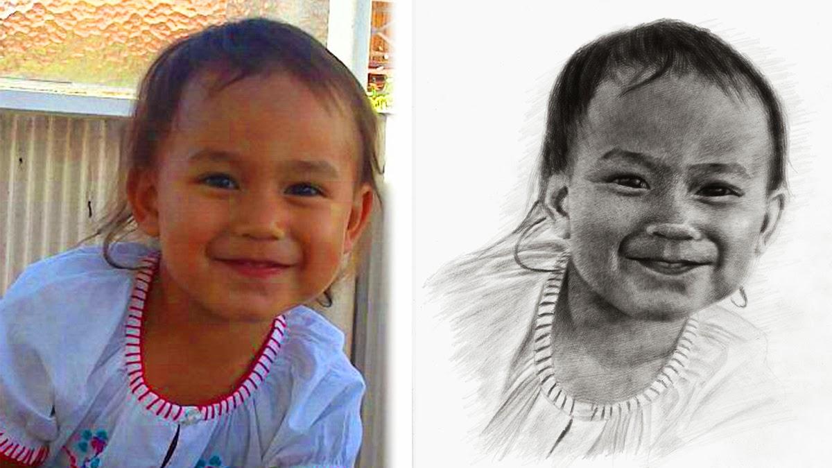 Menggambar Anak Kecil Menggunakan Pensil