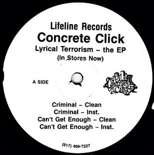 1995 Concrete Click Lyrical Terrorism The Ep Vinyl