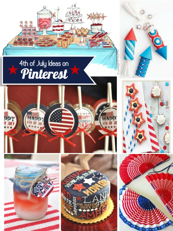 Just out of Pinterest | Last Minute 4th July Party Ideas - via BirdsParty.com