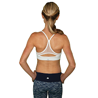 Style Athletics Workout Clothes FABB Activewear Active Clothing California Yoga Running Tennis  Sports Bra White