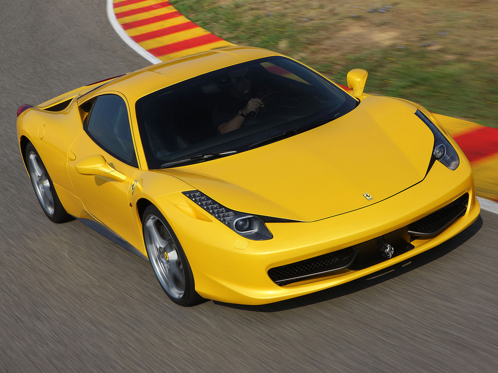 Just pressed on the gas and went. All Bout Cars Ferrari 458 Italia