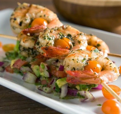 grilled shrimp with avocado salsa