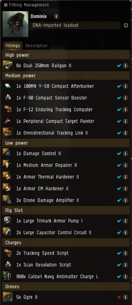 EVE Online Mission: Dominix Level 4 Mission Fit