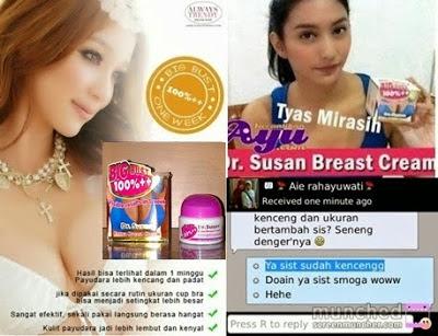 Cream Pembesar Payudara Dr Susan