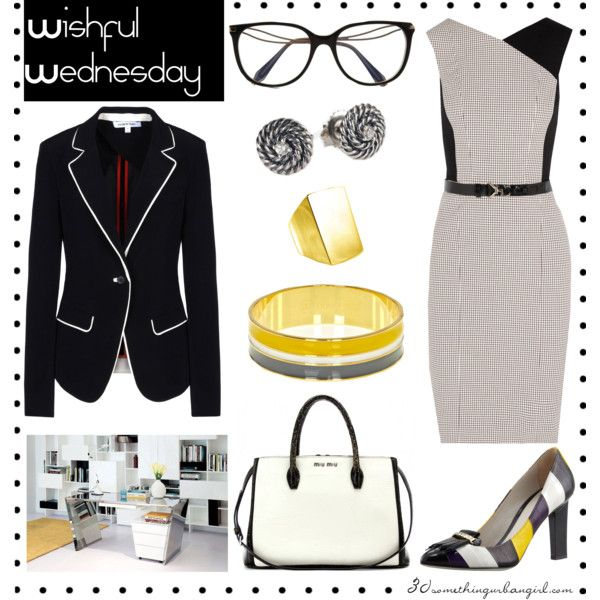 perfect work wear outfit with grey Jason Wu dress and shoes and black blazer, white bag