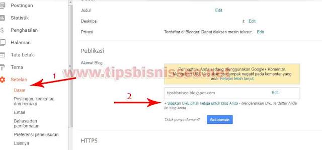 Cara Terbaru Custom Domain Blogger di IDwebhost