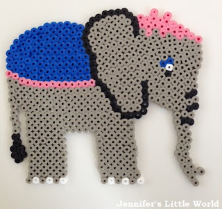 Mrs Jumbo from Dumbo in Hama beads